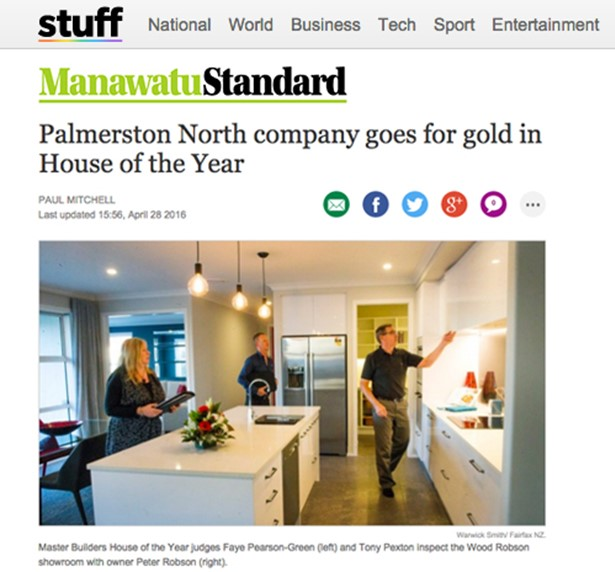 28 April 2016  - Palmerston North company goes for gold in House of the Year