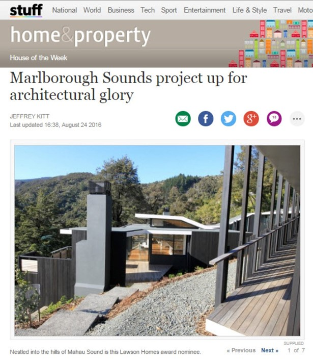 A Blenheim builder who pulled off an impressive Marlborough Sounds project will compete on the national stage for the crown of New Zealand's best build.
