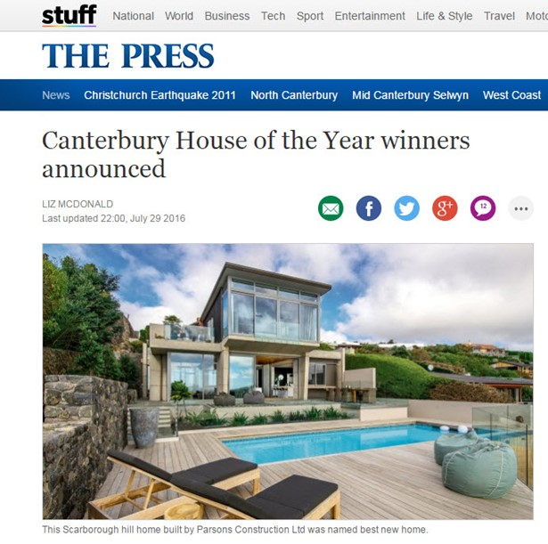 Two very different styles of home have been named supreme winners in this year's Canterbury Master Builders house of the year contest.