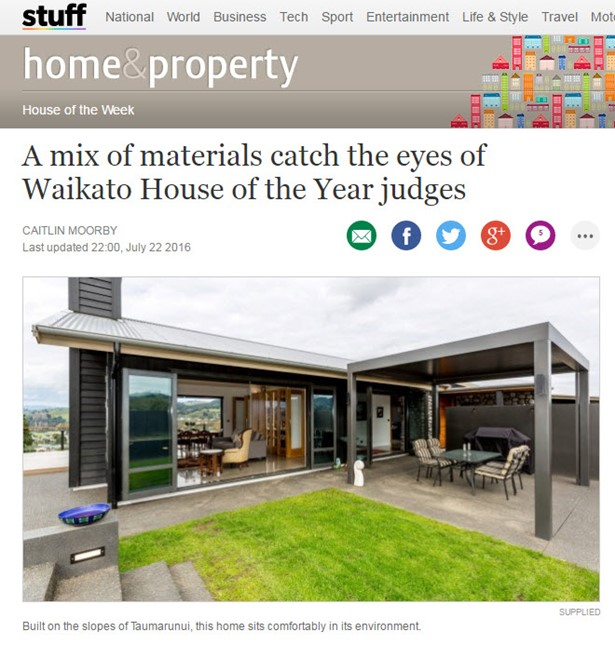 Timbers from the family farm helped a Taumarunui home take out Waikato's House of the Year competition on Friday night.