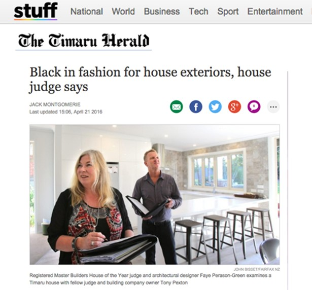 22 April 2016  - Black in fashion for house exteriors, house judge says